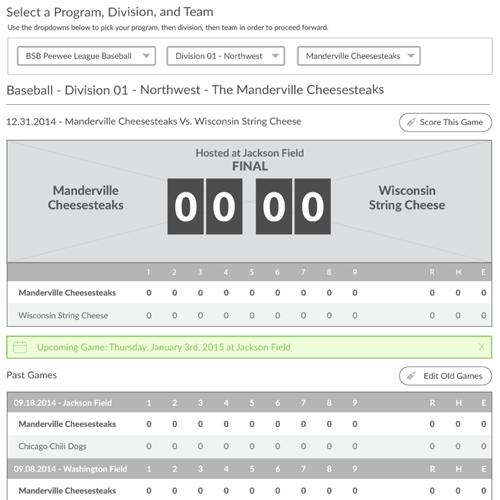 User Updated Statistics Platform